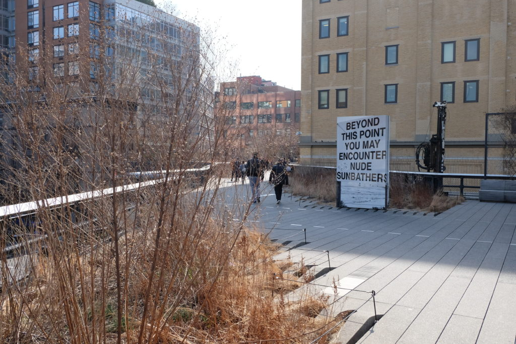 Back to the High Line: Don't worry, that sign is art