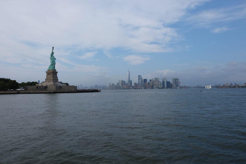 Lady Liberty overlooking Manhattan
