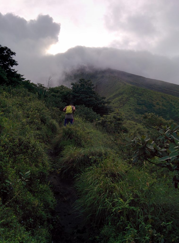 Running up the volcano desperately trying to keep up