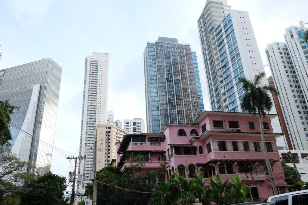 Old Panama City and new Panama City meeting